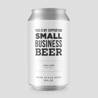Support Small Business Beer Label